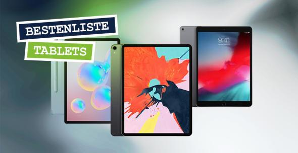 Das Apple iPad Pro 12,9, Samsungs Galaxy Tab S6 und das Apple iPad Air 3