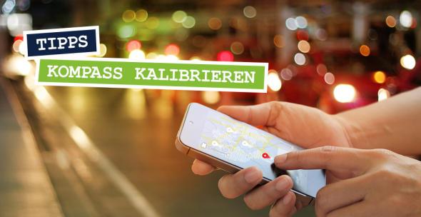 Ein Smartphone User nutzt eine Navigations-App.