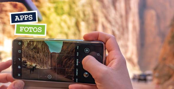 Eine Smartphone-Userin macht ein Foto.