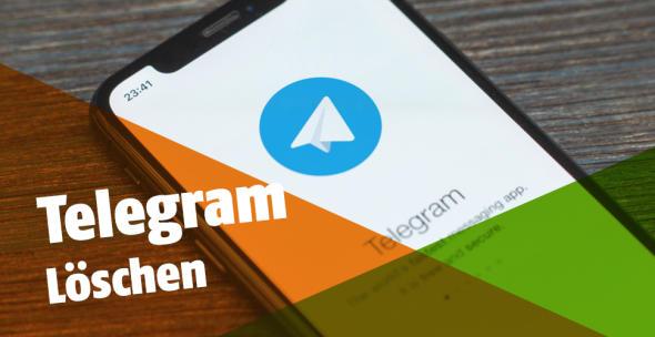 Die App Telegram auf einem Smartphone.