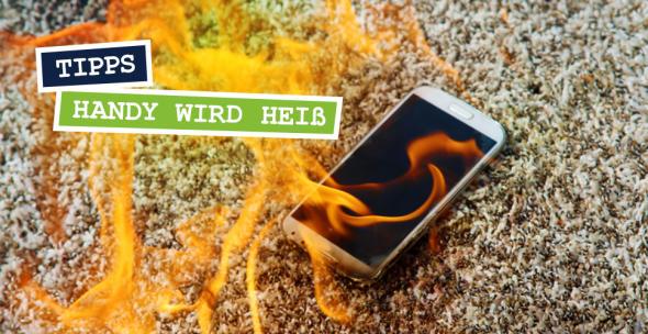 Ein brennendes Smartphone
