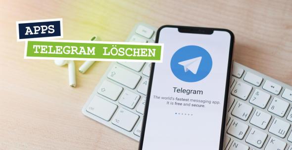 Auf einem Smartphone ist die App Telegram geöffnet.