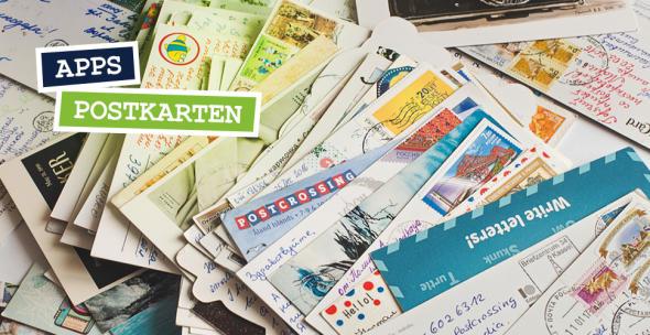 Ein Stapel mit Postkarten