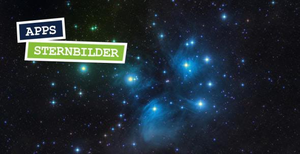 Der nächtliche Sternenhimmel mit einem Sternbild