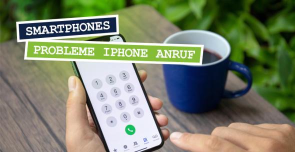 iPhone mit Nummernblock.