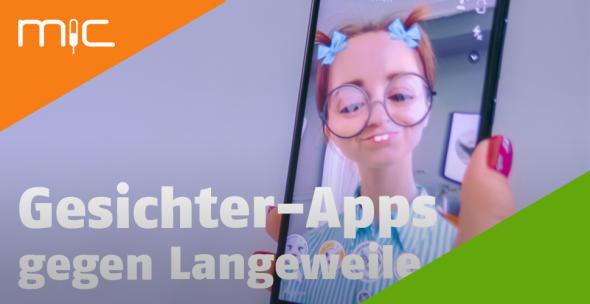 Eine Userin nutzt einen Verformungs-Effekt einer Gesichter-App.