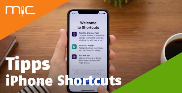Die App Shortcuts auf einem iPhone.