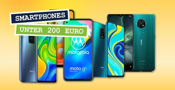 Handys unter 200 Euro von verschiedenen Herstellern