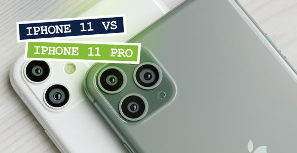 Das iPhone 11 und iPhone 11 Pro liegen übereinander.