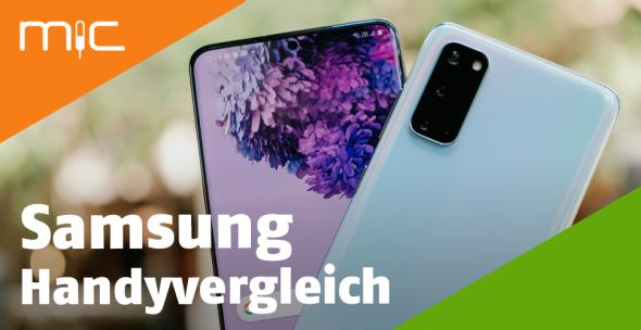 Zwei Samsung-Smartphones.