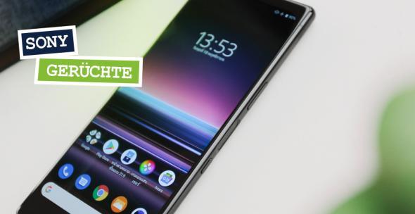 Ein Sony Smartphone auf weißem Grund