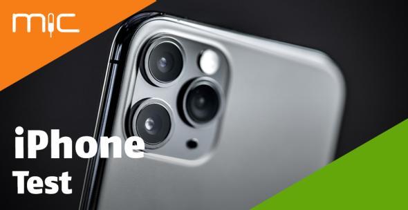 Großaufnahme des oberen Teils eines iPhones