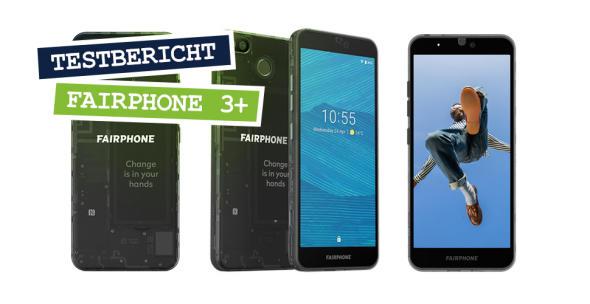 Das Fairphone 3+ von allen Seiten.