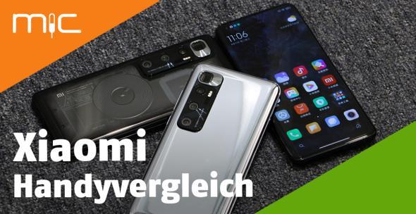 Drei Smartphones von Xiaomi