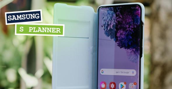 Das Samsung Galaxy S20 in einer Handyhülle.