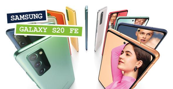 Das Samung Galaxy S20 FE in allen Farbvarianten.