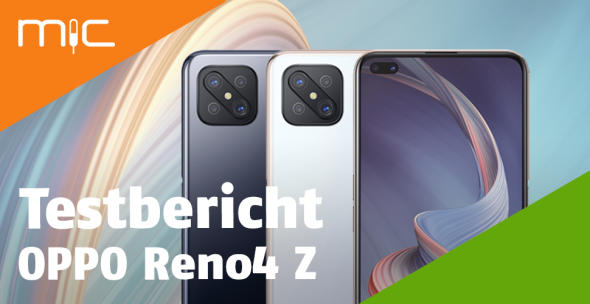 Das OPPO Reno4 Z in Schwarz und Weiß.