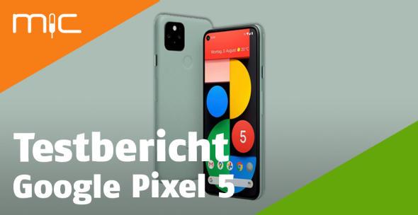 Das Google Pixel 5 in der grauen Variante.