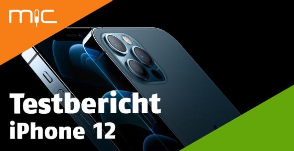 Nahansicht der Front- und Rückseite des iPhone 12 Pro.