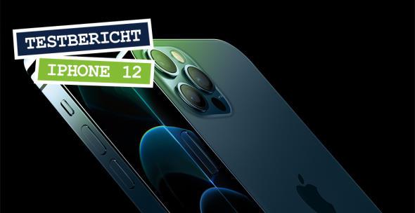 Rück- und Vorderseite des iPhone 12 Pro in der Nahansicht.