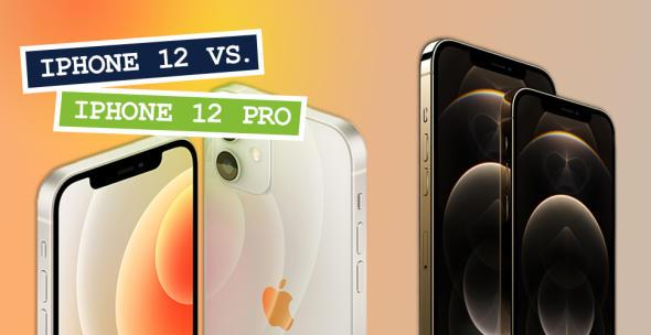 Das iPhone 12 und iPhone 12 Pro nebeneinander.
