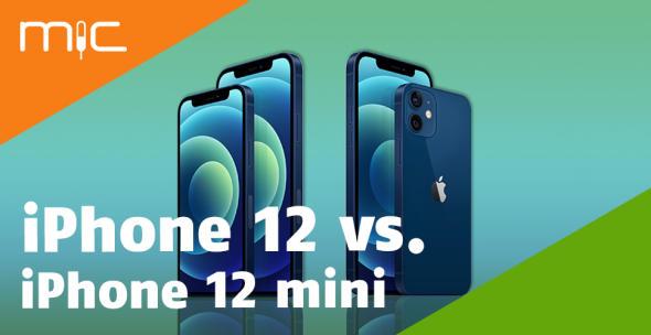 Das iPhone 12 und iPhone 12 mini im Vergleich.