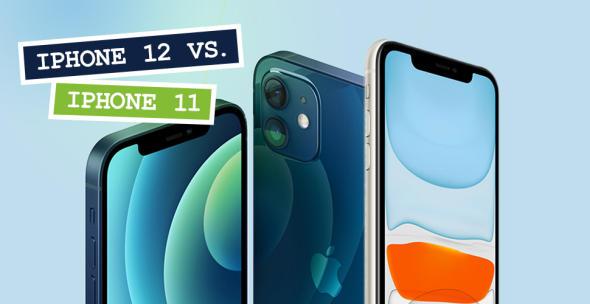 Das iPhone 12 und iPhone 11 im Vergleich.