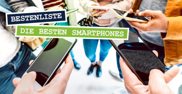 Menschen mit verschiedenen Smartphones