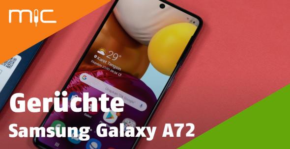 Der Vorgänger des Samsung Galaxy A72 - das A71 - in der Nahansicht.