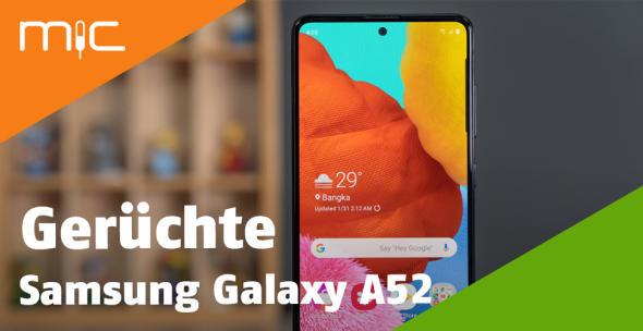 Der Vorgänger des Samsung Galaxy A52 - das A51 - in der Nahansicht.