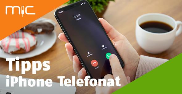 Ein Mann nimmt auf seinem iPhone einen Anruf entgegen.