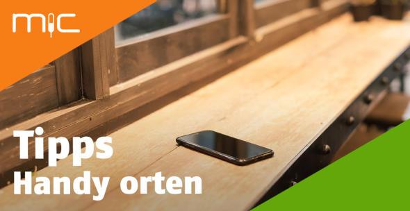 Ein verlorenes Handy auf einem Tisch.