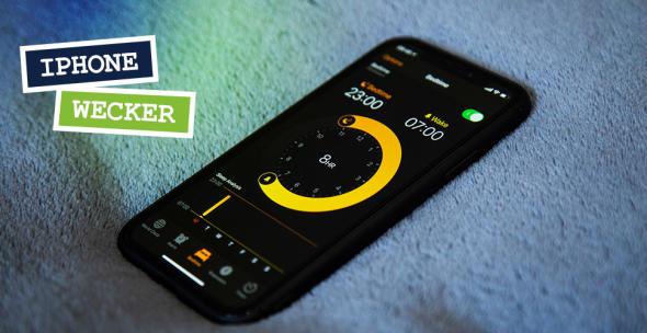 Wecker und Schlafenszeit in der iPhone-App.