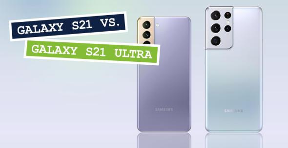 Das Samsung Galaxy S21 und das Samsung Galaxy S21 Ultra
