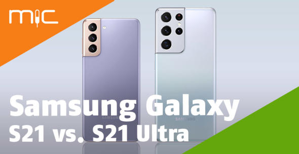 Das Samsung Galaxy S21 neben dem Samsung Galaxy S21 Ultra