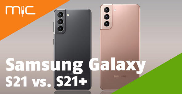 Samsung Galaxy S21 und Samsung Galaxy S21+ nebeneinander
