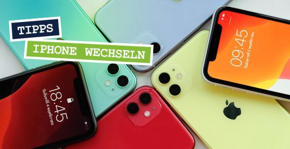 Verschiedene neue iPhones