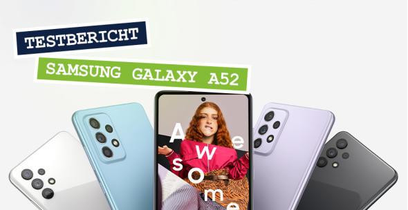 Mehrere Samsung Galaxy A52 aufgefächert