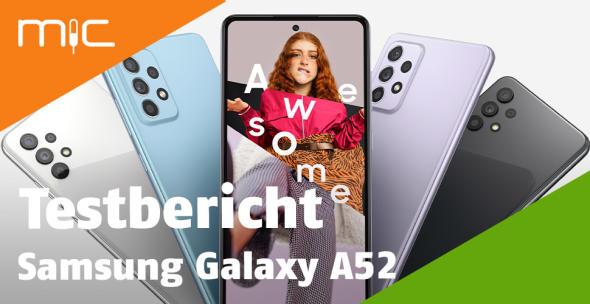 Mehrere Modelle des Samsung Galaxy A52 aufgefächert