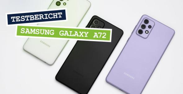 Samsung Galaxy A72 in drei Farben