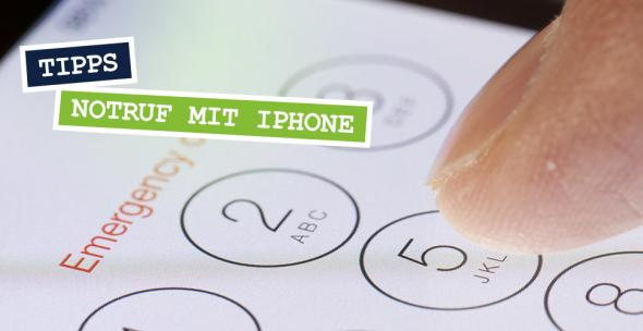 Notruf-Bildschirm eines iPhones