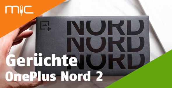 Die Verpackung eines OnePlus-Nord-Smartphones