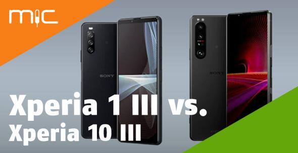 Das Sony Xperia 1 III und das Xperia 10 III im Vergleich