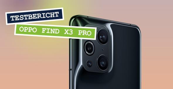 Das Oppo Find X3 Pro in der Rückansicht