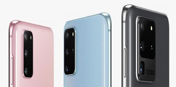 Das Samsung Galaxy S20 kommt in verschiedenen Farben.